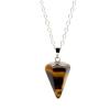 Ragyogj.hu Gúla alakú természetes kőből készült nyaklánc - barna-márvány-2.