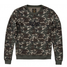 Alpha Indsutries LOGO SWEATER Női - wood camo