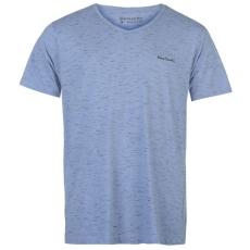 Pierre Cardin Space Dye férfi V nyakú póló kék M