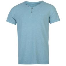 Pierre Cardin Lee Cooper Yarn Dye férfi V nyakú pamut póló türkiz XL
