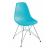 UPPSALA Modern műanyag szék fém lábbal, türkiz - UPPSALA