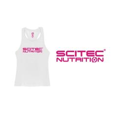 Scitec Nutrition SCITEC RACERBACK WHITE GIRL TANK TOP