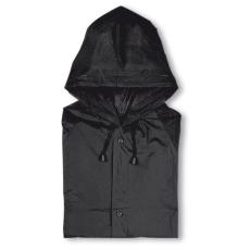 Kapucnis PVC esőkabát, fekete (Kapucnis PVC esőkabát)