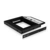 RaidSonic ICY BOX IB-AC642 2.5' beépítő keret 2,5'->5,25 Slim fekete 12,5mm