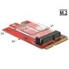 DELOCK Mini PCIe adapter > M.2 aljzat E nyílással