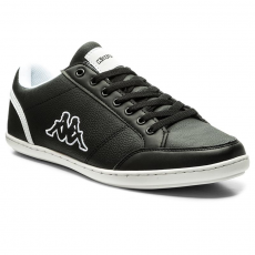Kappa Sportcipő KAPPA - Kent Low 241642 Black/White 1110