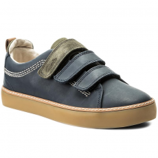 Clarks Félcipő CLARKS - Brill Toy Jnr 261281027 Navy Lather