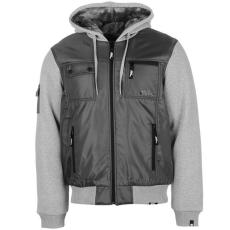 No Fear Lined férfi kapucnis cipzáras kabát sötétszürke XL