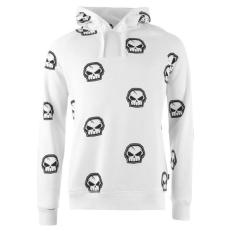 No Fear Forever Skull férfi kapucnis pulóver fehér L