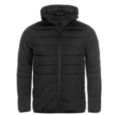 Jack and Jones Core Orbin férfi kapucnis cipzáras bélelt kabát fekete L