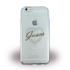 Guess iPhone 6/6S Signature Heart hátlap, tok, ezüst