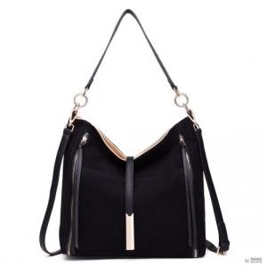 Miss Lulu London LT1715 - Miss Lulu Effect Slouchy válltáska táska fekete