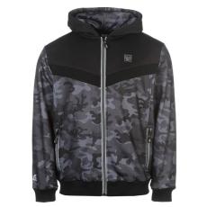 Everlast Premium férfi kapucnis cipzáras pulóver sötétszürke S