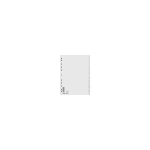Biella Regiszter, mûanyag, A4, 1-31, BIELLA, szürke