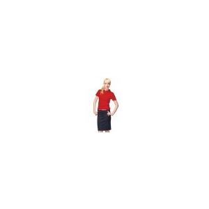 . Póló, nõi, galléros, XL, piros