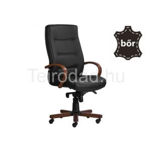 ANT-9300XXL főnöki bőrfotel fa karfával