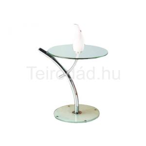 HAL-Iris üveg dohányzóasztal kör alakú asztallappal