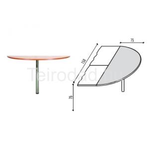 Malibu 30 félköríves íróasztal lezáró elem
