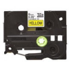 Utángyártott szalag Brother TZ-FX621/TZe-FX621 9mm x 8m, flexi, fekete nyomtatás / sárga alapon