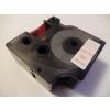 Utángyártott szalag Dymo 53715, 24mm x 7m piros nyomtatás / fehér alapon