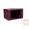 X-Tech - 6U fali rack szekrény 600x450, bordó színben