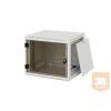 """TRITON RUA-06-AS5 6U magas 19""""-os 495mm mély fali rack szekrény, levehető és zárható oldalfalakkal"""