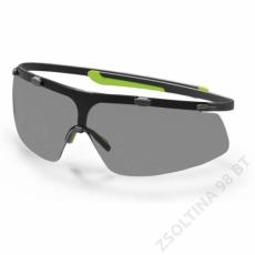 Uvex SUPERG szemüveg, lime keret, szürke lencse