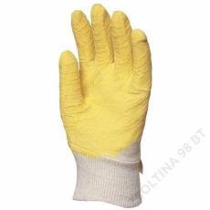 Euro Protection Mártott sárga latex, csúszásbiztos, szellőző kézhát -10