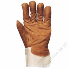 Euro Protection Bőrkesztyű, színes színmarha bútorbőr/fehér vászon kézhát -10