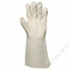 Euro Protection Hegesztőkesztyű, szürke színbőr tenyér/hasíték kézhát -10