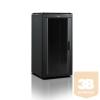 """Lande LN-FS20U6080-BL-111 DYNAmic 20U 600x800 álló rack szekrény 19"""" RAL9005 fekete"""
