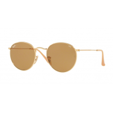 Ray-Ban RB3447 90644I ROUND METAL GOLD PHOTO BROWN napszemüveg