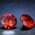 1 db csillogó cirkóniakő - piros