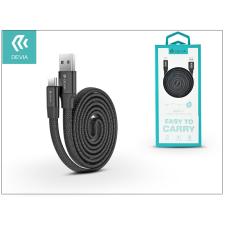 Devia USB - USB Type-C adat- és töltőkábel 80 cm-es vezetékkel - Devia Ring Y1 USB Type-C 2.4 Cable - black audió/videó kellék, kábel és adapter