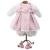 Loko Rózsaszín pöttyös lány babaruha és babacipő játékbabáknak