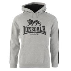 Lonsdale 2 Stripe férfi kapucnis pulóver fekete 4XL