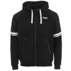 Lonsdale Heavy Weight férfi cipzáras kapucnis pulóver fekete M