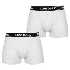 Lonsdale 2 darabos férfi boxeralsó szürke XL