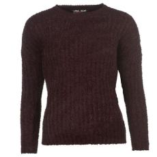 Lee Cooper Női kerek nyakú kötött pulóver bordó XXL