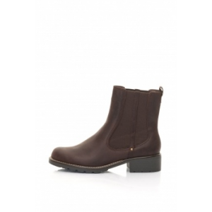 Clarks , Orinoco Club Bordó Bőrcsizma, Bordó, 4 (ORINOCO-CLUB-BURGUNDY-LEATHER-4)