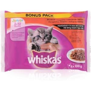 Whiskas Alutasakos 100g 4-Pack Junior Bonus 400g