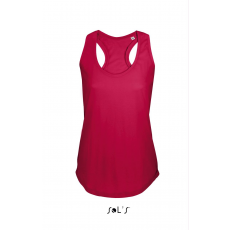 Sol\\\'s Sols Moka női trikó, Piros (Sols női trikó, ívelt aljjal.)