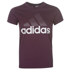 Adidas Linear QT női póló bordó M