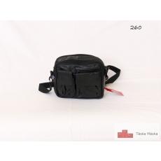 260 Fekete bőr autós táska pánttal