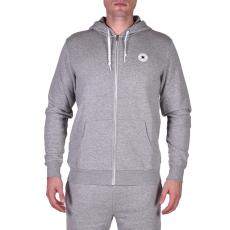 Converse Sweat Shirts férfi kapucnis cipzáras pulóver szürke XL