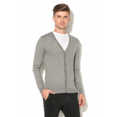Zee Lane Collection , Gombos Kardigán, Melange szürke, XL (ZLC18F-3047-GREY-XL)