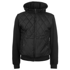 Pierre Cardin Quilt férfi kapucnis cipzáras pulóver fekete S