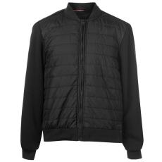 Pierre Cardin férfi bomber dzseki - fekete - Pierre Cardin Fleece Bomber Jacket Mens