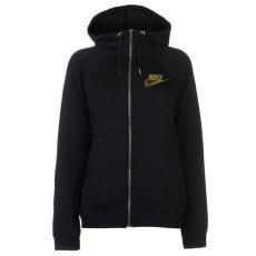 Nike női cipzáras kapucnis pulóver - Nike Metalic FZ Hood Ld81 - fekete