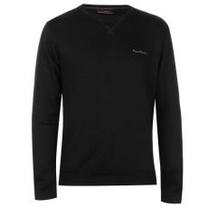 Pierre Cardin férfi pulóver - fekete - Pierre Cardin Crew Neck Fleece Sweatshirt Mens